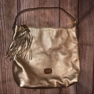 Michael Kors Large Gold Metallic Tote - Like New!